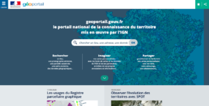 page d'accueil Geoportail