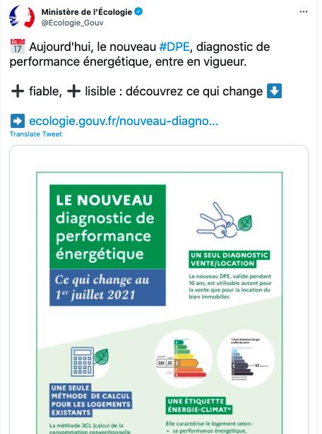 Source : Compte Twitter de presse du Ministère de l'Écologie